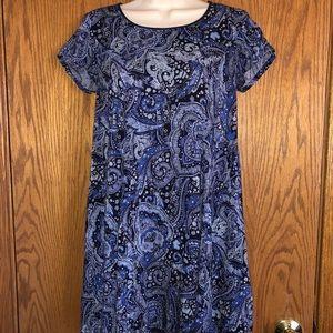 Silence + Noise Mini Dress Blue Floral Size XS